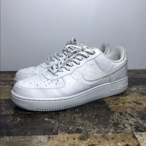Nike AIR FORCE 1 Low Triple White Croc Skin SZ 13